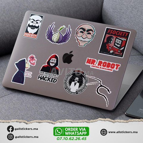 Mr Robot Stickers Pack - 4