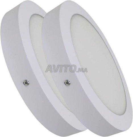 Plafonnier LED à Surface Ronde 20W - 1