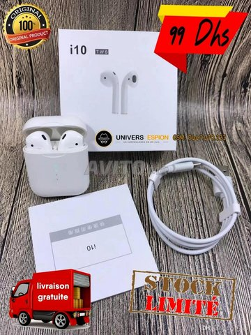 Promo écouteur i10 tws - airpods - tactile - 2