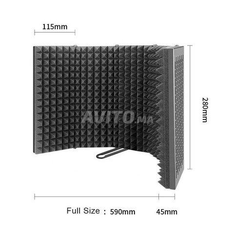Panneau acoustique pour isolation de microphone - 5