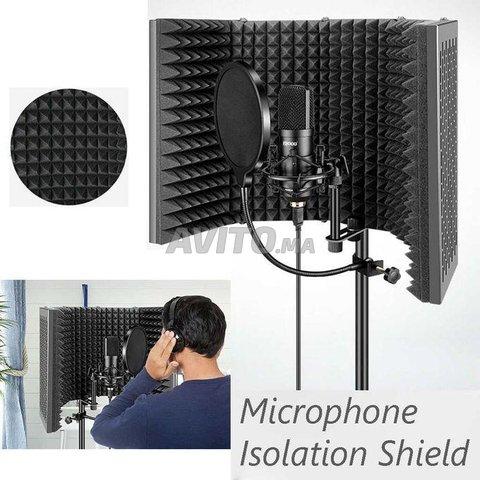 Panneau acoustique pour isolation de microphone - 8