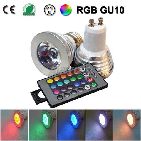 Spot 3W GU10 IR  RGB   - 8