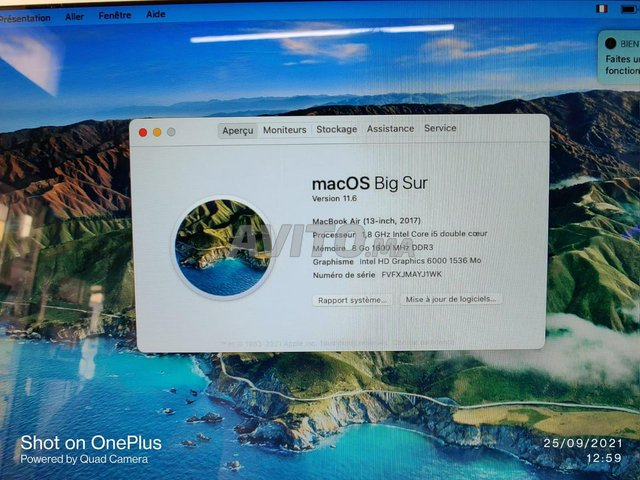 Macbook Air 13 Pouces 2017 i5 8Go 128Go SSD 122C - 5