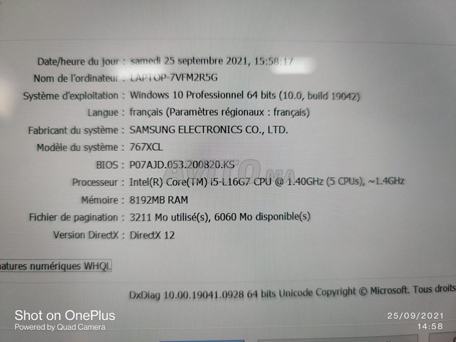 Samsung Galaxy Book S i5 10TH 8Go 256Go SSD Touch - 7