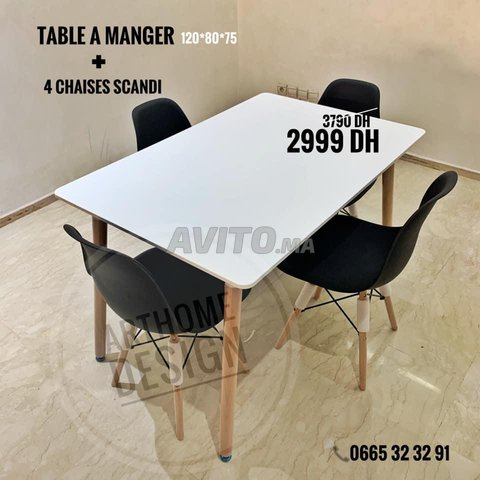PROMO- TABLE A MANGER SCANDINAVE - 2