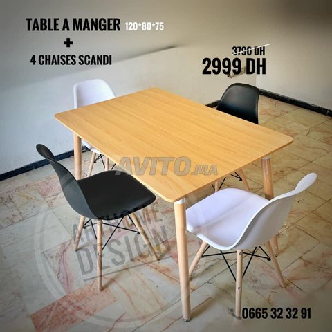 PROMO- TABLE A MANGER SCANDINAVE - 3