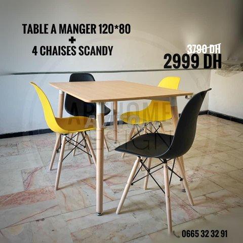 PROMO- TABLE A MANGER SCANDINAVE - 5