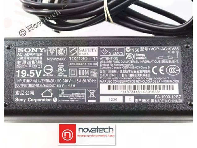 Chargeur Sony Vaio /90W-19V 4.74A Original - 6