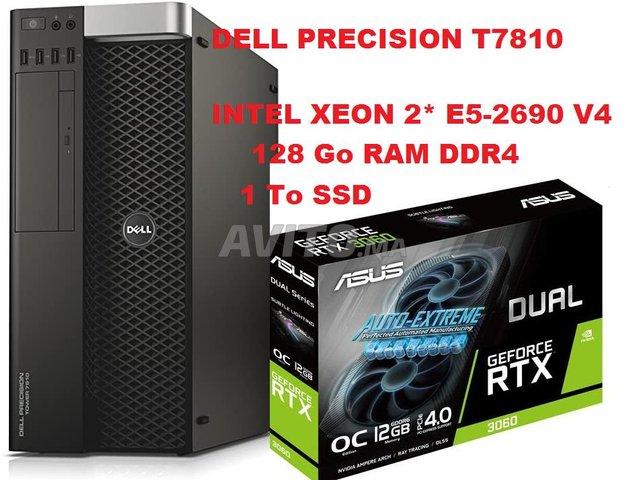 DELL T7810 2*E5-2690 V4 /1To SSD /GTX 3060. 12Go - 1
