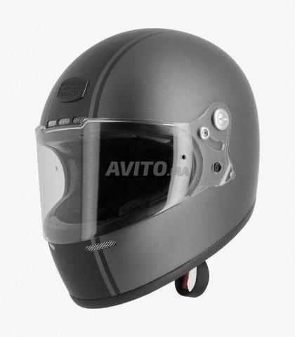 CASQUE ASTONE GT Retro Matt Grey & Black Helmet - 1