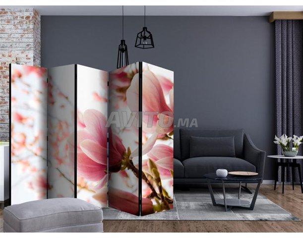 Séparateur de pièce 5 Volets Pink Magnolia II - 1