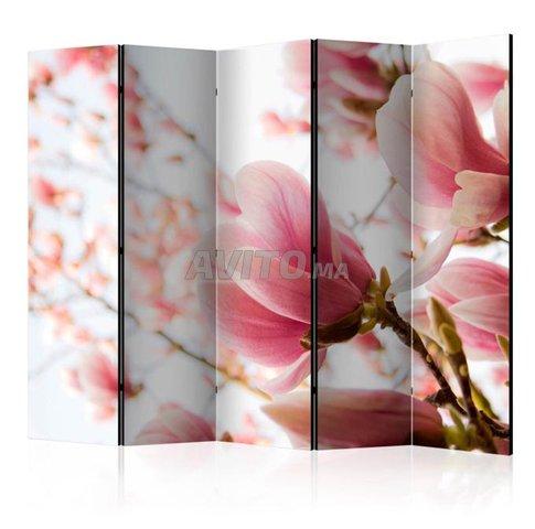 Séparateur de pièce 5 Volets Pink Magnolia II - 2