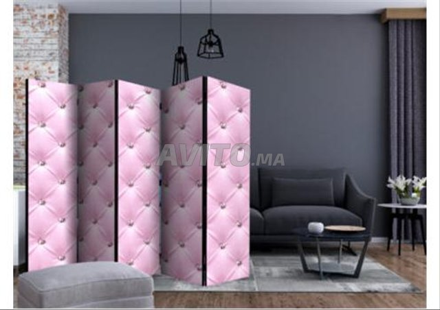 Paravent 5 Volets Pink Lady II - 1