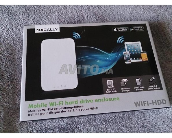 Macally Wifi Hdd Boîtier Disque Hdd/Ssd 2.5 Wifi N - 3