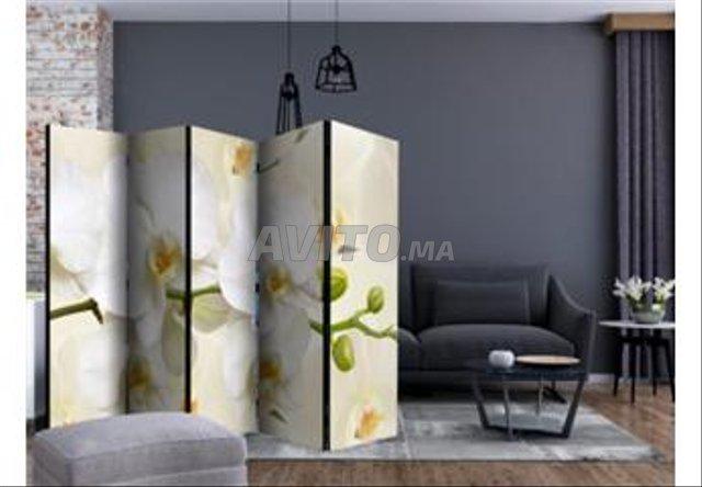 Paravent 5 Volets Branche D'orchidée II - 1
