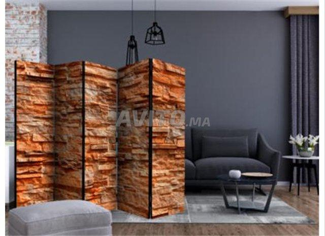 Paravent 5 Volets Orange Stone II - 1