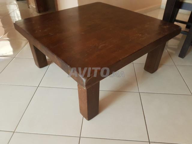 Table basse contemporaine carrée   - 1