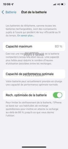 iPhone X 64 g batterie 83 - 4