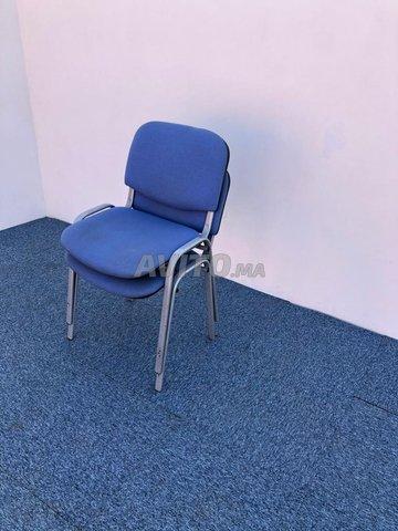 Chaise visiteur fixe iso bleu - 5