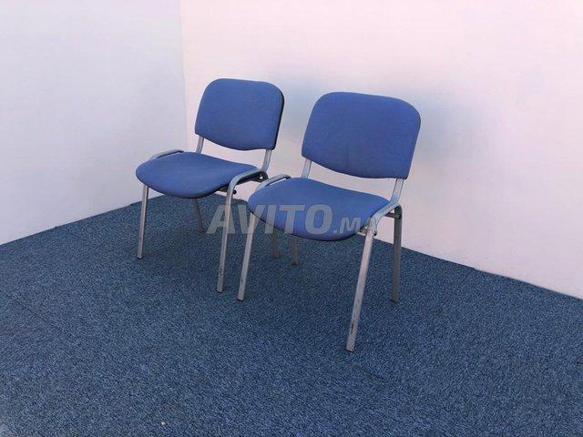 Chaise visiteur fixe iso bleu - 3