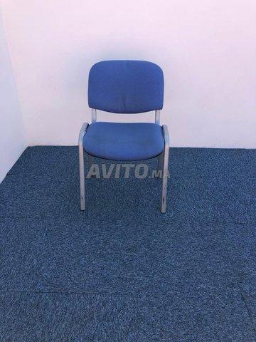 Chaise visiteur fixe iso bleu - 1
