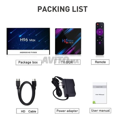 H96 MAX 4k 4G/32GB ANDROID 10 - 2