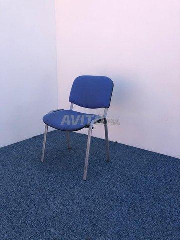 Chaise visiteur fixe iso bleu - 2