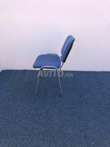 Chaise visiteur fixe iso bleu - 4