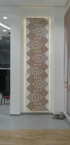 Séparation Décoration plafond poutrelle et mur - 6