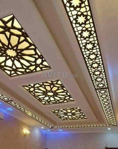 Séparation Décoration plafond poutrelle et mur - 3