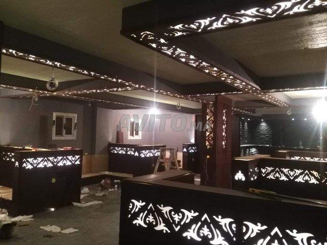 Séparation Décoration plafond poutrelle et mur - 2