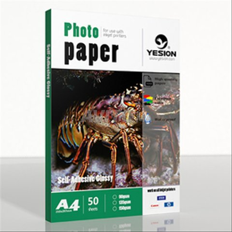 Papier photo adhesive glossy 135gr a4 /a3 - 1