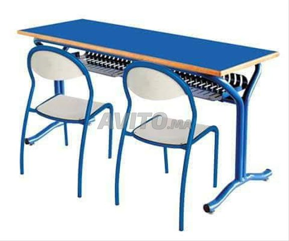 Mobilier scolaire table individuel G  - 2