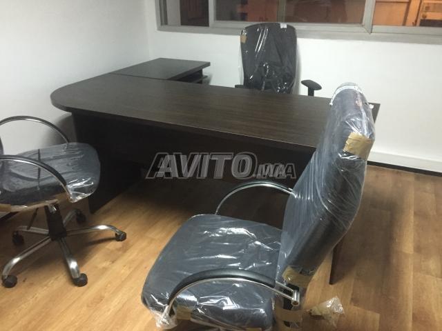REF 01 Des bureau L et chaise new - 1
