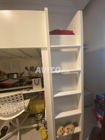 lit mezzanine avec bureau - 4