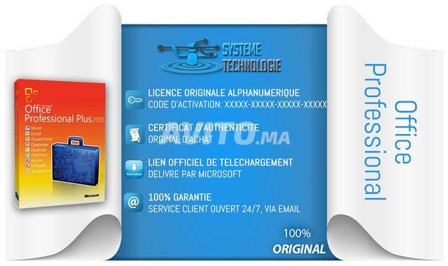 Licence Microsoft office 2010 2013 / 2016 /2019 - 2