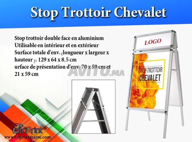 Chevalet Stop Trottoir TRIPRINT MAROC - 1