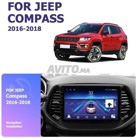 Poste radio ecran tactile android jeep compass - 2