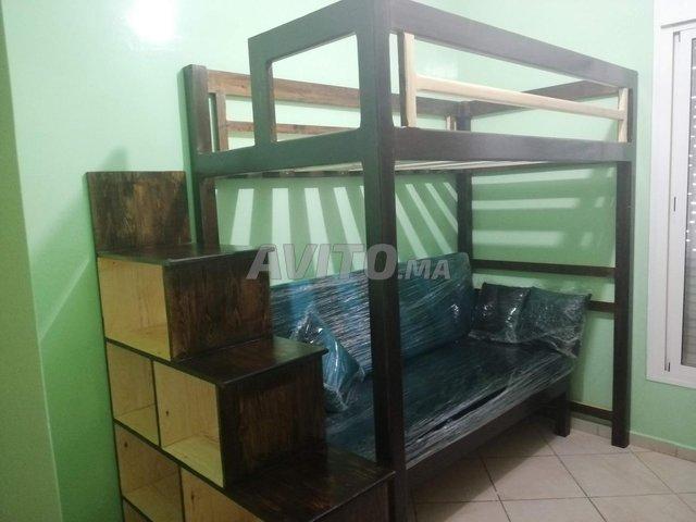 Lit mezzanine démontable avec fauteuil - 1
