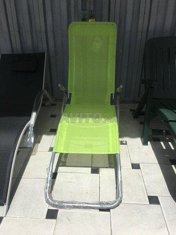 transat chaise longue en alu et plastique - 1