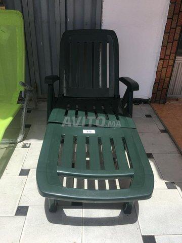 transat chaise longue en alu et plastique - 2
