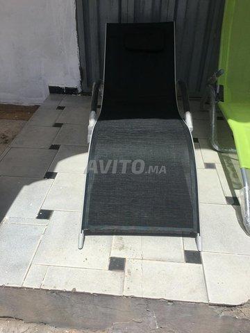 transat chaise longue en alu et plastique - 3