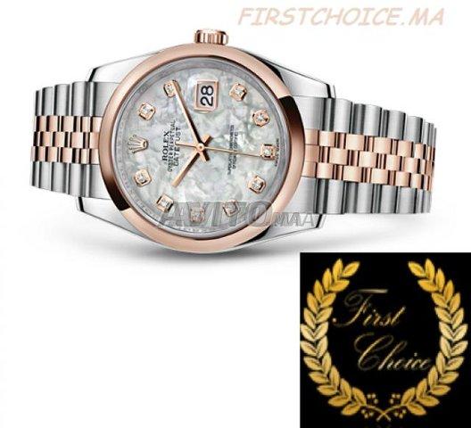 Watch ROLEX Datejust Or Rose Nacré N1204 Femme - 2