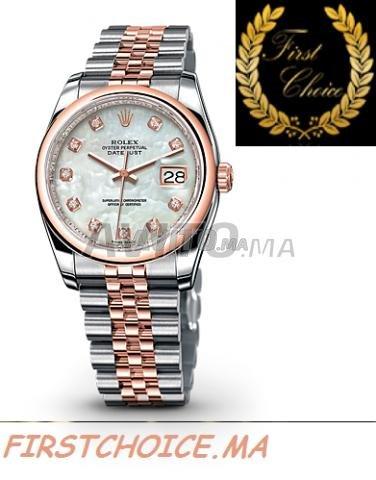 Watch ROLEX Datejust Or Rose Nacré N1204 Femme - 3