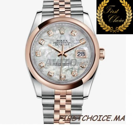 Watch ROLEX Datejust Or Rose Nacré N1204 Femme - 1