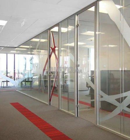 Cloison aluminium et faux plafond - 1