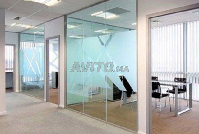 Cloison aluminium et faux plafond - 2
