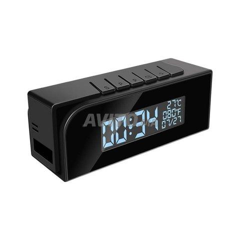 Réveil camera espion wifi vision nocturne 1080P  - 1