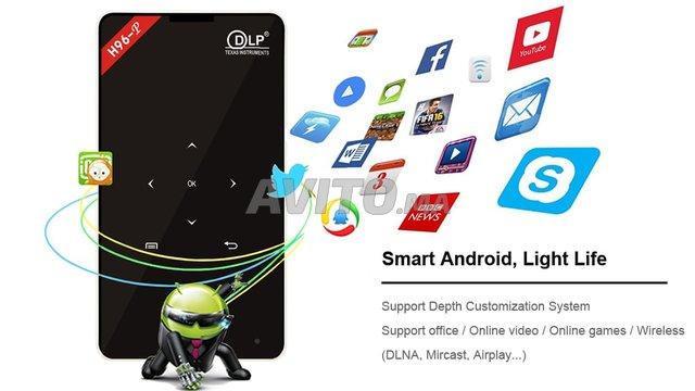 Projecteur H96 P DLP Mini 4K  2-16GB Android 9.0  - 3