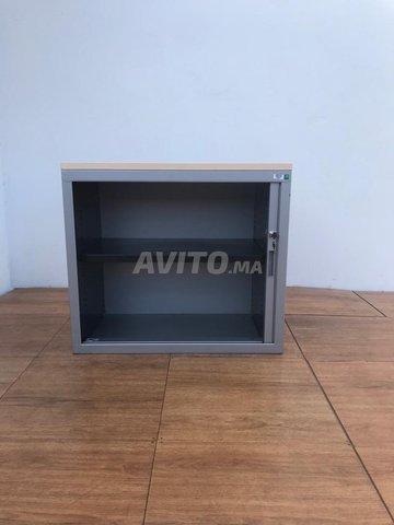 Armoire basse 73x80cm a rideau marcadet - 3